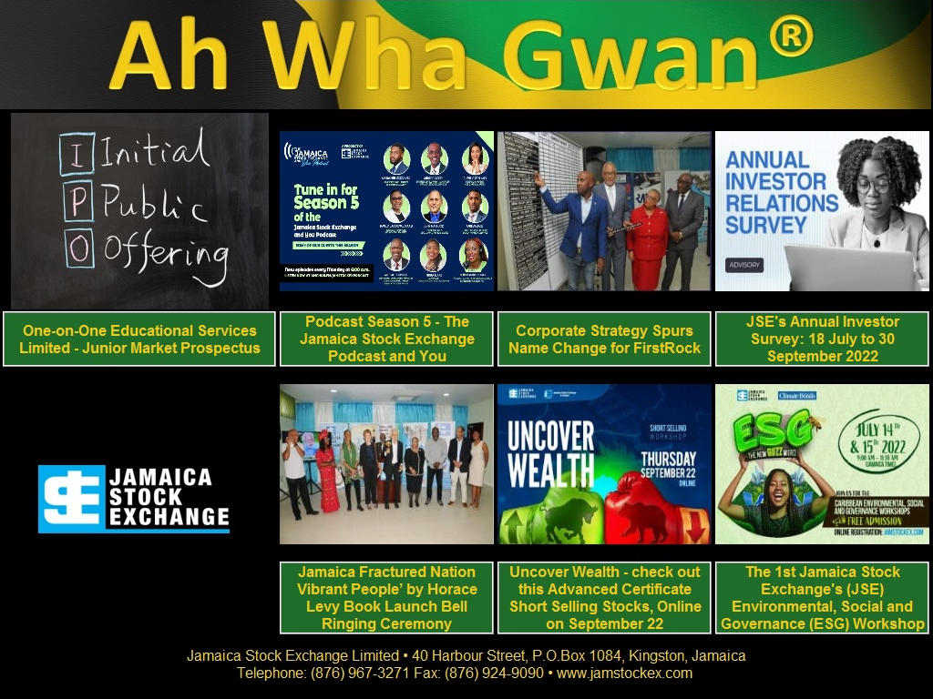 Brought to you by the Jamaica Stock Exchange